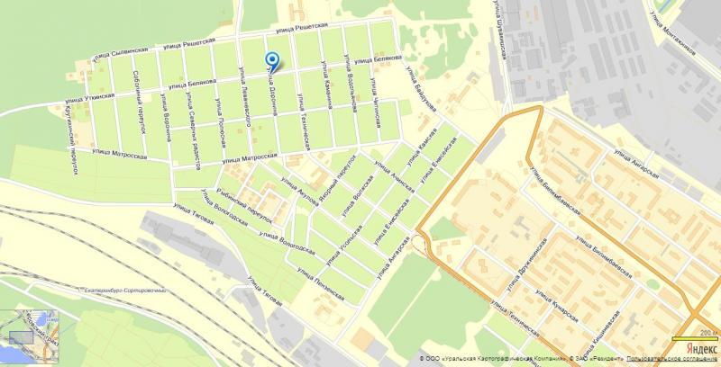 Схема расположения улицы