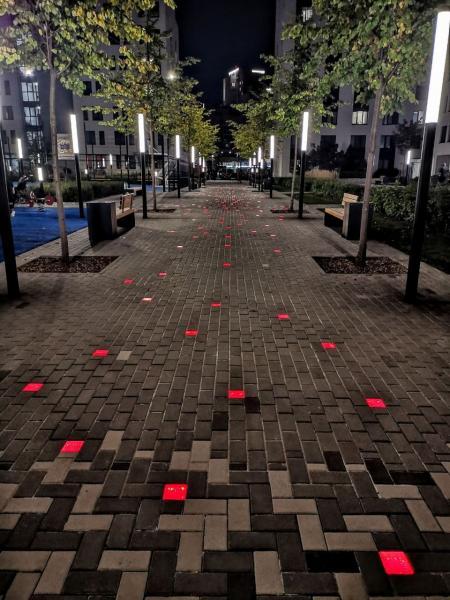 """Компания ИТЦ """"Квант"""" приняла участие в проектировании и монтаже светящейся тротуарной плитки"""